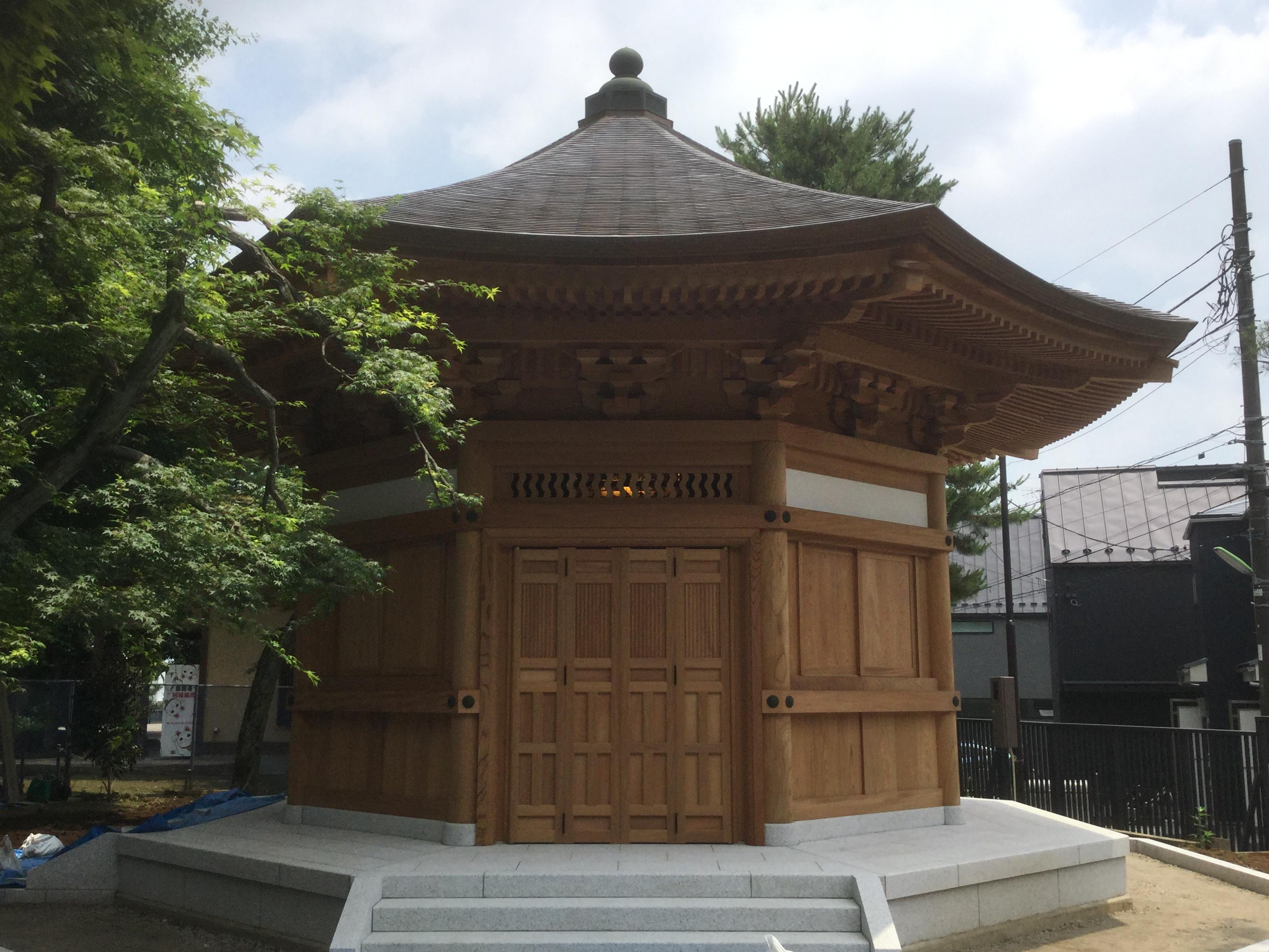 豪徳寺様の地蔵堂完成